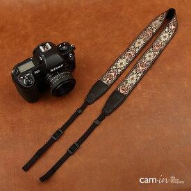 【CAM in】一眼レフ ミラーレス一眼レフ 用 カメラネックストラップ【メーカー直輸入品】ラグジュアリーゴールド ヨーロッパ風 刺繍デザイン カメラ女子にも【CAM8411】【クリスマスプレゼントに最適】