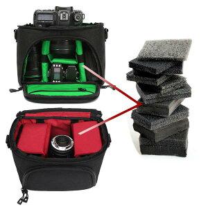 【送料無料!】単独で使えるインナークッション付き!大容量!一眼レフ・ミラーレス一眼レフ用カメラバッグリュックサックバッグを開けずに直接カメラにアクセスPCポケットレインカバー付き