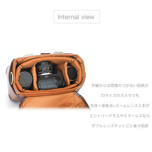 【送料無料!!】【Lサイズ】アンティーク調一眼レフレザーカメラバッグカメラ女子にもインナーバッグ取り外しOK!!一眼レフおしゃれ一眼カメラバッグ女子旅行カメラバック防水カメラバッグ