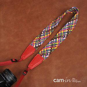 【プレゼントに最適】【CAMin】超おしゃれ一眼レフミラーレス一眼レフ用民族風カメラネックストラップ編込みデザインヨーロッパ風モザイクデザイン【メーカー直輸入品】カメラ女子に