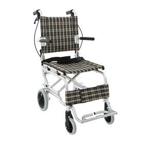 【送料無料】楽々健 折り畳み式車椅子 介助型 軽量アルミ製 簡易車椅子 旅行用 外出用 コンパクト