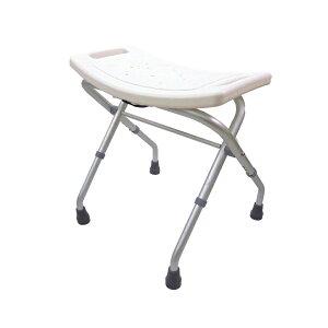 楽々健 シャワーチェア バスチェア 入浴用 入浴介助 折り畳み椅子 高さ調節 3段階 座高高め