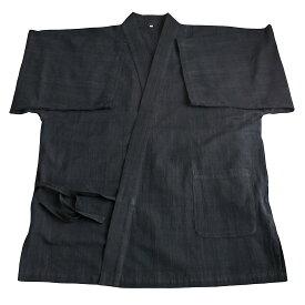 ジョムトン手織り綿の作務衣ジャケット(墨黒)