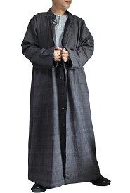 ジョムトン手織り綿スタンドカラーロングコート