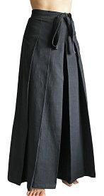 ジョムトン手織り綿袴パンツ(黒)