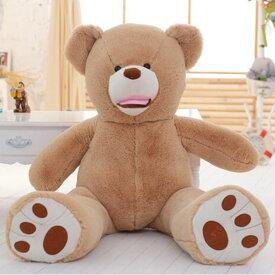【送料無料】熊ぬいぐるみ クマ特大 くま抱き枕 ベア 特大動物 大きい クリスマス お誕生日 100cmビッグ熊 7色選べる とても柔らかく自力で座ることが出来ない