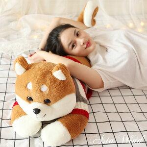 アニマル 抱き枕 動物 柴犬 犬 茶色 クッション ぬいぐるみ おもちゃ 玩具 かわいい ゆるかわ 130cm 癒し しっぽ やわらかい 手触り 気持ちいい インテリア 子供 プレゼント 贈り物 贈答品 クリ