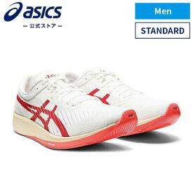 METARACER WHITE/SUNRISE RED メタレーサー 1011a676 100アシックス メタレーサー ランニング メンズランニングシューズ スポーツシューズ 運動靴 スニーカー