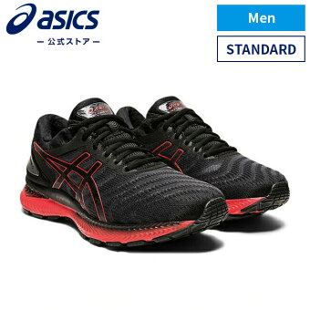 GEL-NIMBUS 22 BLACK/CLASSIC RED 1011a680 003アシックス ゲルニンバス ランニング メンズランニングシューズ スポーツシューズ 運動靴 スニーカー