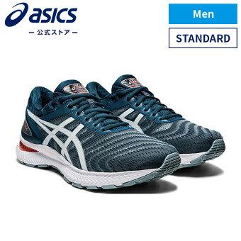 GEL-NIMBUS 22 LIGHT STEEL/MAGNETIC BLUE 1011a680 404アシックス ゲルニンバス ランニング メンズランニングシューズ スポーツシューズ 運動靴 スニーカー