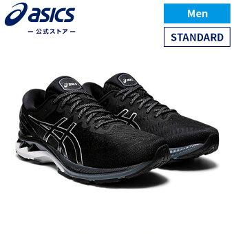 GEL-KAYANO 27 BLACK/PURE SILVER 1011a767 001アシックス ゲルカヤノ ランニング メンズランニングシューズ スポーツシューズ 運動靴 スニーカー
