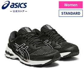 GEL-KAYANO 26 BLACK/WHITE 1012A457 001アシックス ASICS ゲルカヤノ スポーツシューズ ランニングシューズ レディース インソール 運動靴 スニーカー ランニング トレーニング ブラック 黒