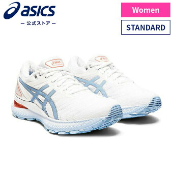 GEL-NIMBUS 22 WHITE/BLUE BLISS 1012a587 103アシックス ゲルニンバス ランニング レディースランニングシューズ スポーツシューズ 運動靴 スニーカー