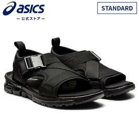 GEL-QUANTUM 90 SD STANDARD BLACK/BLACK 1023a053 001アシックス ゲルクォンタム メンズ レディースサンダル スポーツサンダル