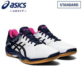 GEL-TACTIC STANDARD WHITE/PEACOAT 1073a015 104アシックス ゲルタクティク バレーボール メンズ レディースバレーボールシューズ スポーツシューズ 運動靴 スニーカー