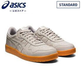 JAPAN S OYSTER GREY/OYSTER GREY STANDARD 1201A107 020 アシックス ASICS 男女兼用 スポーツシューズ 人工皮革 ゴム底 運動靴