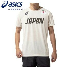 ロゴTシャツ(JOCエンブレム)クリーム 2033a542 100アシックス トレーニング メンズ Tシャツ 【東京2020公式ライセンス商品】