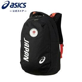 Back Pack(JOC EMBLEM)Black 3033a926 001アシックス トレーニング メンズ レディース バッグ ポーチ ケース 【JOC公式ライセンス商品】