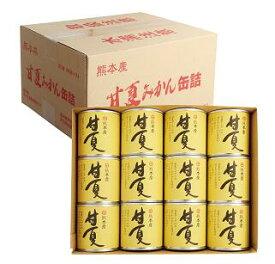 甘夏缶詰(295g×24缶)(ダンボール) ギフト お中元 御中元 贈り物 熊本県産 甘夏 缶詰