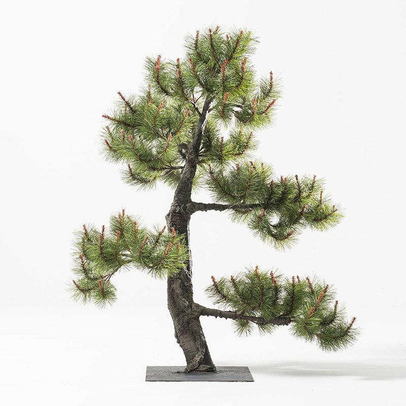 【即納】完全一点物制作品 アーティフィシャルフラワー 松の造花 高さ110cm【10】