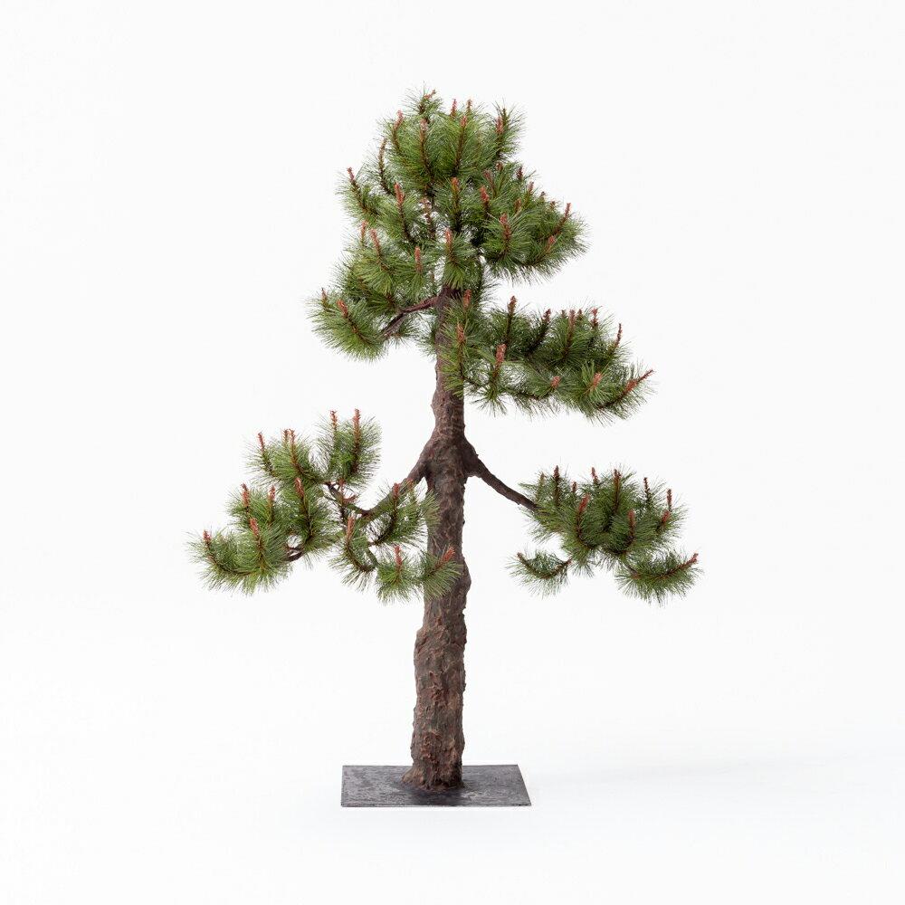 【即納】完全一点物制作品 アーティフィシャルフラワー 松の造花 高さ110cm【4】
