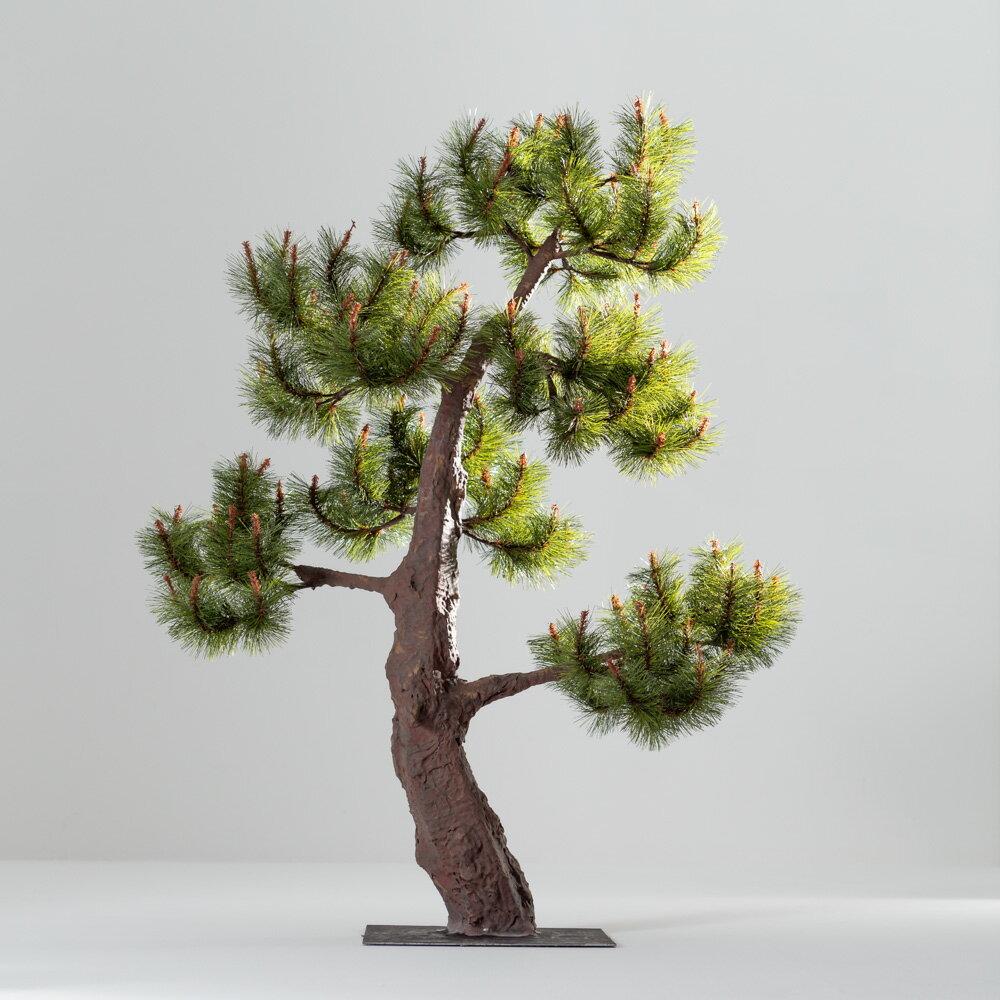 【即納】完全一点物制作品 アーティフィシャルフラワー 松の造花 高さ110cm【5】