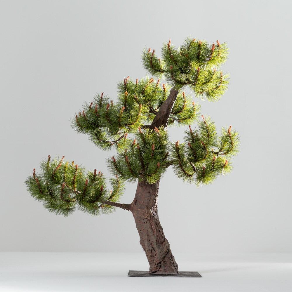 【即納】完全一点物制作品 アーティフィシャルフラワー 松の造花 高さ110cm【6】