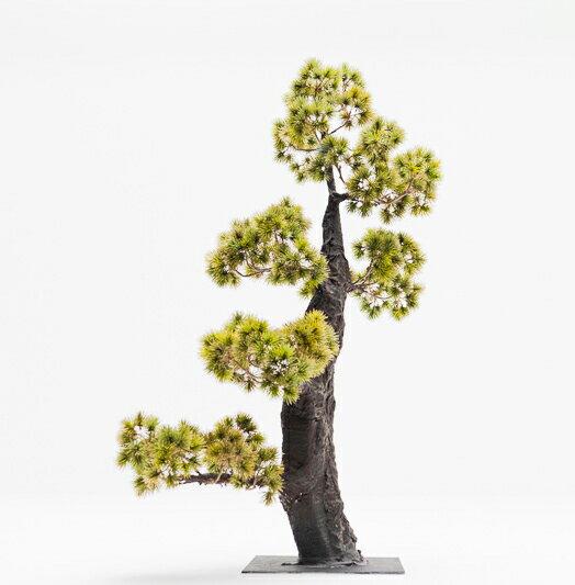 【即納】完全一点物制作品 アーティフィシャルフラワー 松の造花 高さ110cm 唐松ゴールド【8】