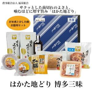 【福岡の本場の味 美味しい はかた地どり】 はかた地どり 博多三昧(4〜5人前)(冷凍)人気の水炊きにがめ煮とかしわ飯まで入ったセットです。