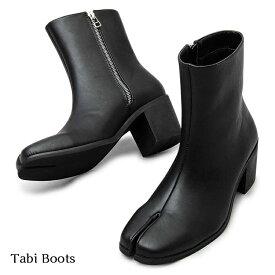 GLABELLA ハイヒール足袋ブーツ GLBB-209 グラベラ メンズ 7cmヒール ブーツ ショートブーツ 合皮 シークレットシューズ シークレットブーツ