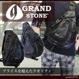 不足身体包人GRAND STONE运动场斯通平衡身体包一肩膀披肩尼龙A4的立式轻量人包包名牌排名礼物礼物thanks
