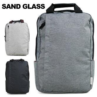 支持帆布背包背包商務包人SANDGLASS三明治玻璃杯A4立式廣場帆布背包PC的人包包名牌排名禮物禮物(3G75)