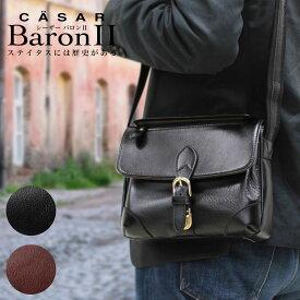 本革 ショルダーバッグ メンズ 革 ブランド CASAR シーザー Baron2 バロン2 斜めがけ バッグ 肩掛け レザー 横型 軽量 日本製 メンズ バッグ 小さめ 海外旅行バッグ