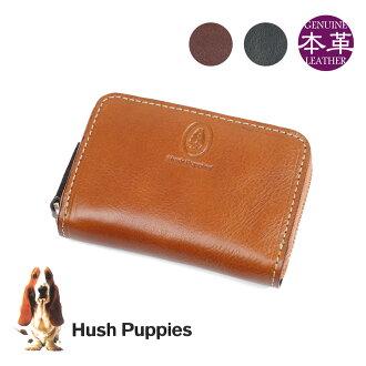 硬幣情况人Hush Puppies hasshupapimago錢包硬幣袋書皮革皮革皮革小東西便利店錢包局拉鏈名牌排名禮物禮物coincase men's