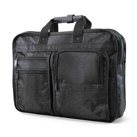 ビジネスバッグ ブリーフケース メンズ ナイロン 2WAY 2ルーム B4 横型 PC対応 キャリーオンバッグ ショルダーバッグ ショルダー付 マチ拡張 軽量 リクルート メンズバッグ バッグ 父の日 プレゼント 大容量 通勤バッグ