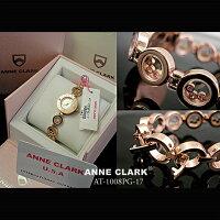 ANNECLARKアンクラークレディース腕時計ピンクゴールド[AT1008-17PG]天然シェルピンク文字盤