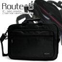 PC/タブレット対応 2層式大容量ビジネスバッグ Route-B 0418メンズ レディース ビジネスバック ナイロン 軽量 ショルダーベルト付属 シンプル 大きい 出張 一泊二日 B4書類収納可能