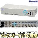 TMD-48【TVD-48(Rev.2)】【HDTVI・AHD・HDCVI・CVBS対応映像1入力8出力・4入力8出力分配器】 【防犯カメラ】 【監視カメラ】 【3D Corp…