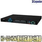 TQS-H04H(Rev.2)【19インチラック対応HD-SDI・HDMI入力対応画面4分割ユニット】