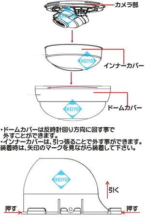 ED930FW(ホワイト)【AHD方式223万画素屋内用赤外線搭載ドーム型カメラ】