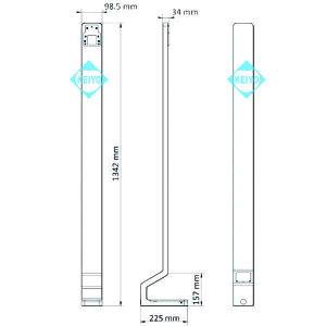 DS-KAB671-Bセット【7インチタブレットタイプサーマルカメラ用ロングスタンド・転倒防止板セット】