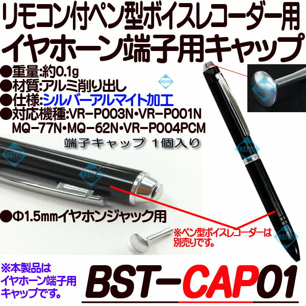 BST-CAP01【ボイスレコーダー用イヤホーンキャップ】 【ICレコーダ】 【ベセトジャパン】 【BESETO JAPAN】 【メール便送料無料】