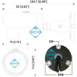 AXC-FW1200SN-POC【200万画素マルチフォーマット対応IP67準拠赤外線バレット型カメラ】