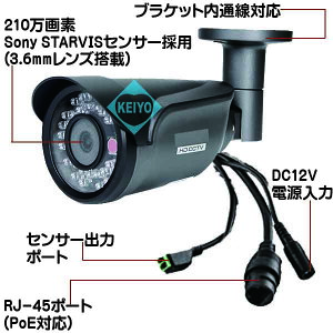 ASIP-1080T365【FLIR製検知センサー採用210万画素温度検知カメラ】