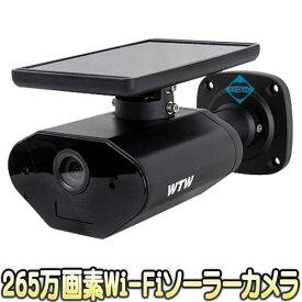 亀ソーラーPRO(WTW-IPWS1103HB)【屋外設置対応ソーラーパネル搭載220万画素Wi-Fiネットワークカメラ】 【防犯カメラ】【監視カメラ】【送料無料】