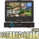 ASR-2004M-AHD(2TB)【AHD/HDTVI/CVBS対応10.1インチ液晶搭載フルハイビジョン録画対応2TB搭載レコーダー】