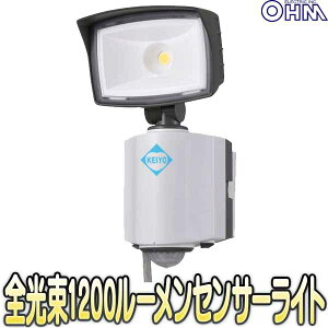 OSE-LS1200(07-6385)【人感センサー搭載屋外設置対応AC100V駆動LEDセンサーライト】 【オーム電機】 【OHM】