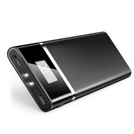 モバイルバッテリー 大容量 24000mah スマホ充電器 iPhone Android対応 高品質 バッテリー残量表示 PSE認証済 2.1A 急速充電 LEDライト 旅行 アウトドア