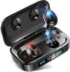 【数量限定4990→3390】 ワイヤレスイヤホン Bluetooth イヤホン ブルートゥースイヤホン Hi-Fi高音質 8.0ノイズキャンセリング&AAC対応 音量調整 マイク内蔵 両耳 左右分離型 イヤホン PSE認証済み iPhone/Android対応 IPX7防水 送料無料
