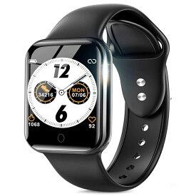 スマートウォッチ レディース メンズ 最新版 スマートブレスレット 腕時計 カラースクリーン 歩数計 活動量計 アラーム IP67防水 1.4インチ大画面 消費カロリー 電話着信 LINE アプリ通知 日本語 睡眠検測 iphone android ギフト 敬老の日